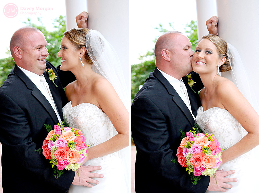 Bride and Groom outside church | Davey Morgan Photography