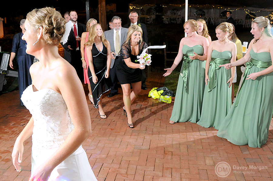 Catching bouquet at Palmetto Collegiate Institute | Davey Morgan Photography