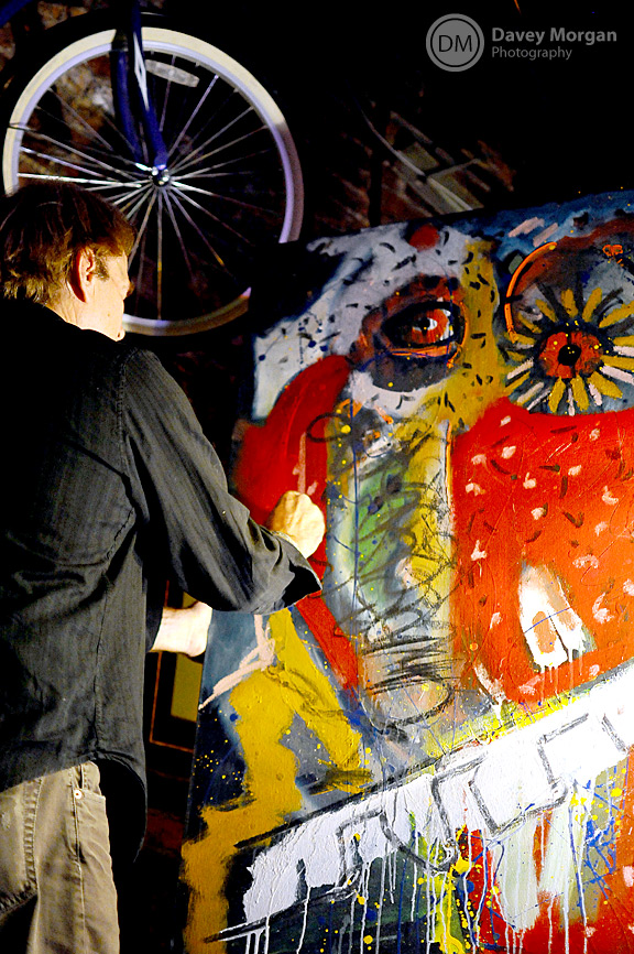 Ric Stanridge painting live in Greenville, SC | Davey Morgan Photography