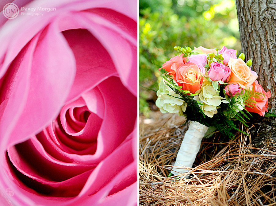Picture of bridal bouquet and close up of flower | Davey Morgan Photography