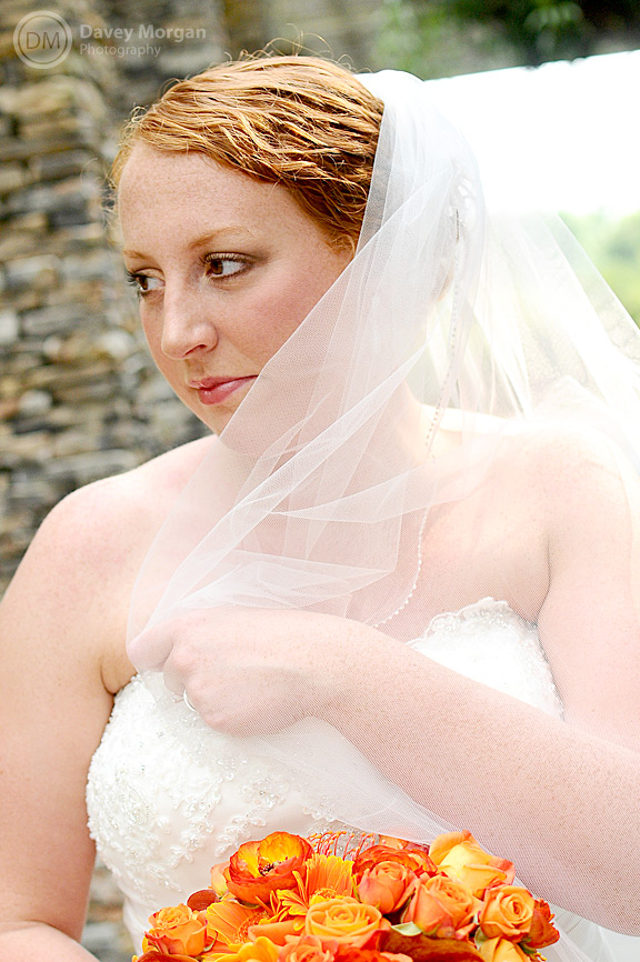 Bride in the SC Botanical Gardens in Clemson, SC | Davey Morgan Photography