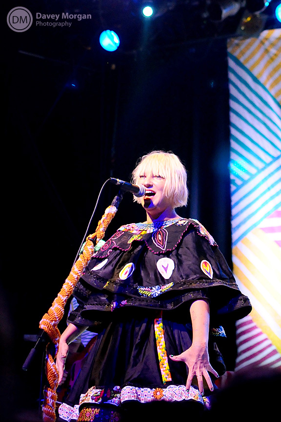 Sia performing in concert | Davey Morgan Photography