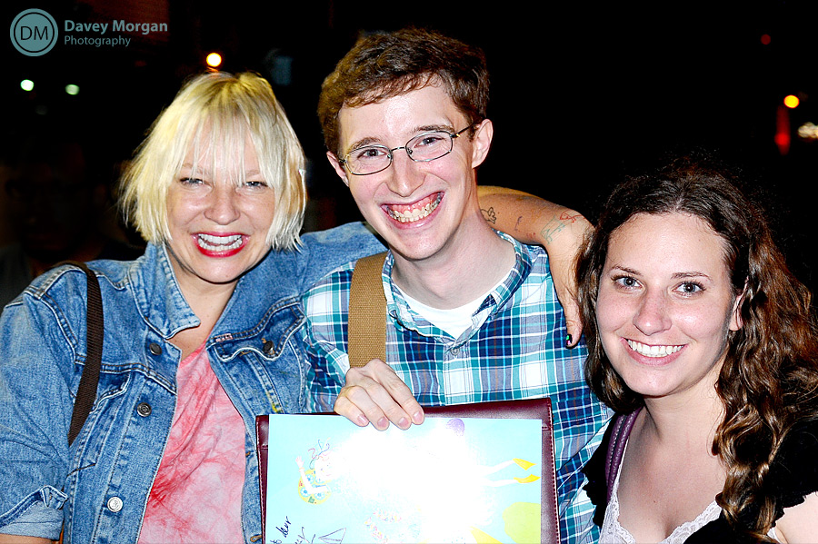 Sia and fans | Davey Morgan Photography