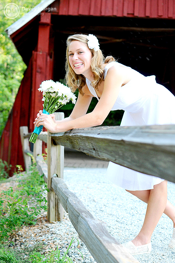 Bridals at Campbell's Covered Bridge | Davey Morgan Photography