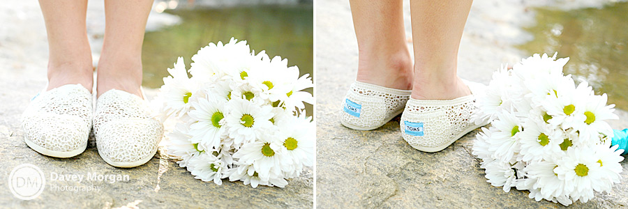 Bride wearing Tom's Shoes | Davey Morgan Photography