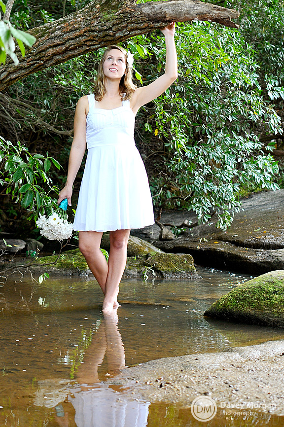 Bride in Creek, Trash the Dress | Davey Morgan Photography