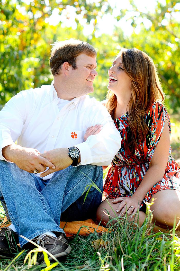 Clemson Fans Engagement Pictures | Davey Morgan Photography