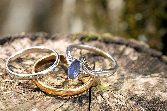 close up of Bride and grooms rings | Davey Morgan Photography