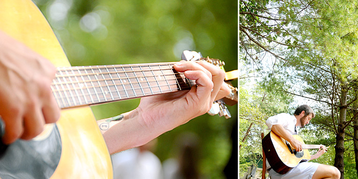Guitar musician at wedding | Davey Morgan Photography