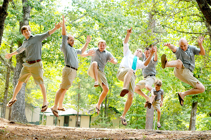 Groom and Groomsmen jumping | Davey Morgan Photography