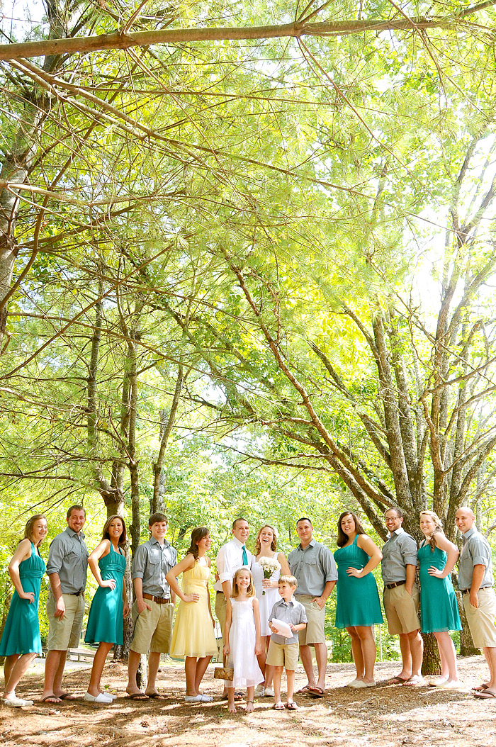 bridal party at wedding | Davey Morgan Photography