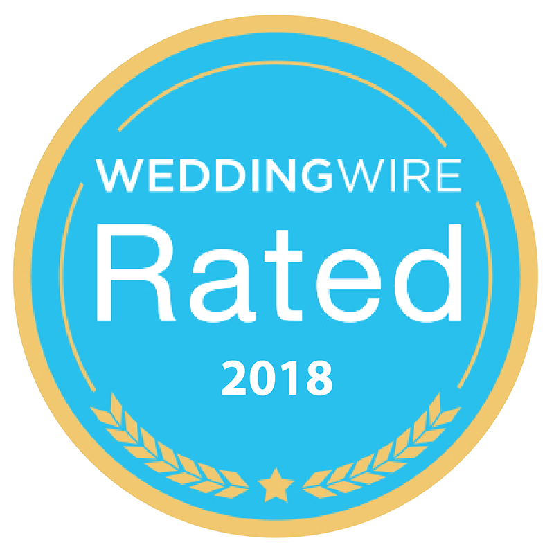 WeddingWire Rated 2018 award