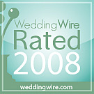 WeddingWire Rated 2008 award